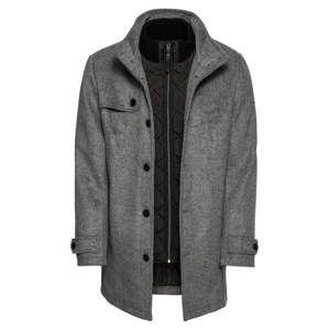 TOM TAILOR Zimní kabát  šedý melír