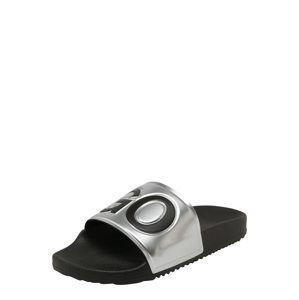 HUGO Pantofle 'TIME OUT'  stříbrně šedá / černá